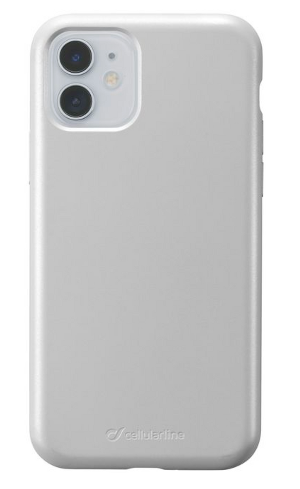 Custodia soft touch silicone interno vellutino per apple iPhone 11 Silver CellulaLine