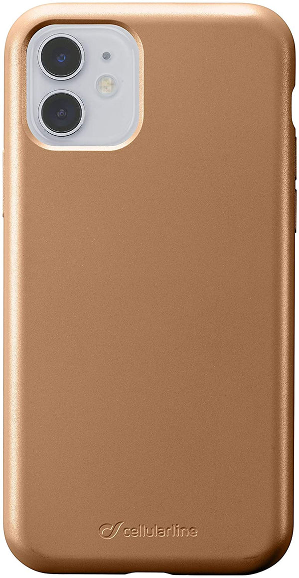 Custodia soft touch silicone interno vellutino per apple iPhone 11 Bronzo CellulaLine