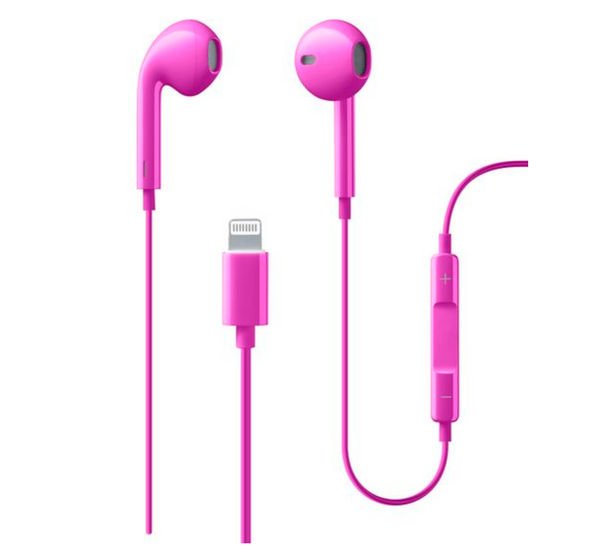 Cellular Line - Auricolare lightning MFI made for Apple Pink