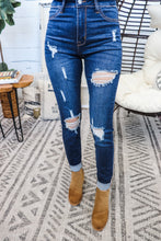 Load image into Gallery viewer, Aubrie Ripped Skinny • Dark Wash