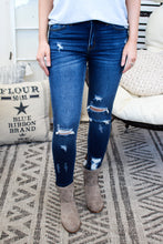 Load image into Gallery viewer, Callista Distressed Skinny • Dark Wash