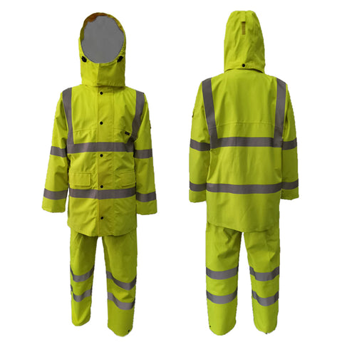 Neilsen® HVC & HVT SET Rainwear High Visibility Coat Yellow