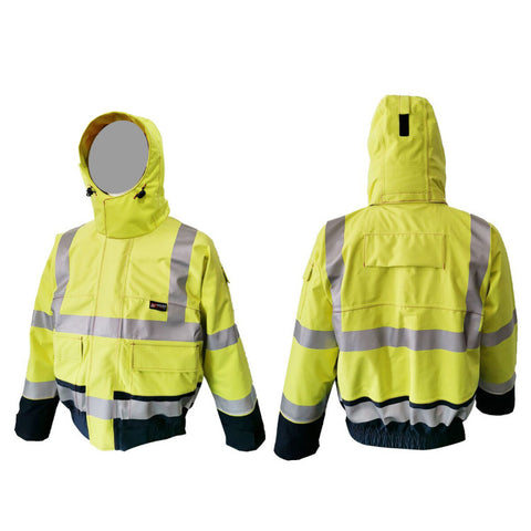 PRO ARC PRARBJ FR/ARC Rated Breathable High Visibility Rainwear Jacket Yellow/Navy