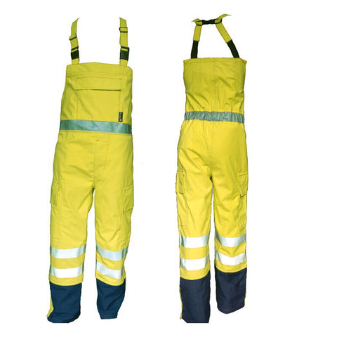 PRO ARC PRARCBT FR/ARC Rated Breathable High Visibility Rainwear Bib Trouser Yellow/Navy