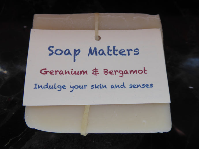 Geranium and Bergamot natural soap