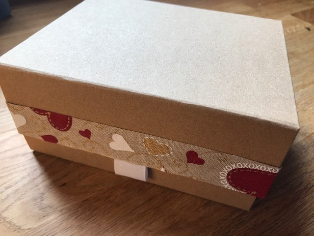 Heart gift box with blended oil and two soaps