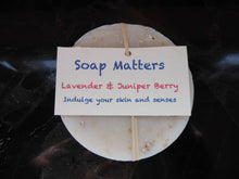 Load image into Gallery viewer, Juniper and Lavender natural soap