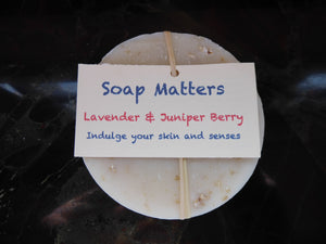 Juniper and Lavender natural soap