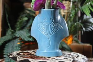 Ololupe Special limited edition tiki mug in Manta Mist by Moku Huna - Back