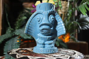 Ololupe Special limited edition tiki mug in Manta Mist by Moku Huna - Front