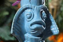 Load image into Gallery viewer, Ololupe Special limited edition tiki mug in Manta Mist by Moku Huna - Front Angle