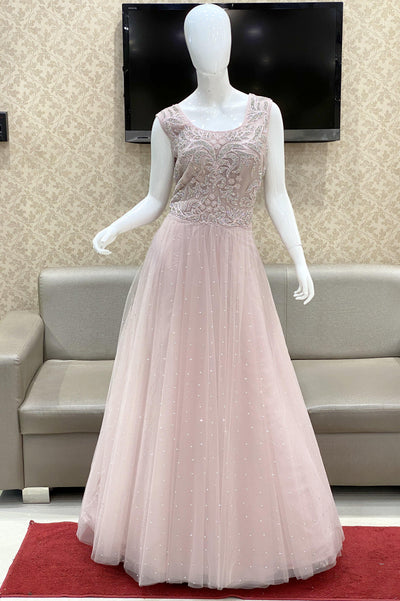 Light Onion Pink Bridal And Partywear Gown