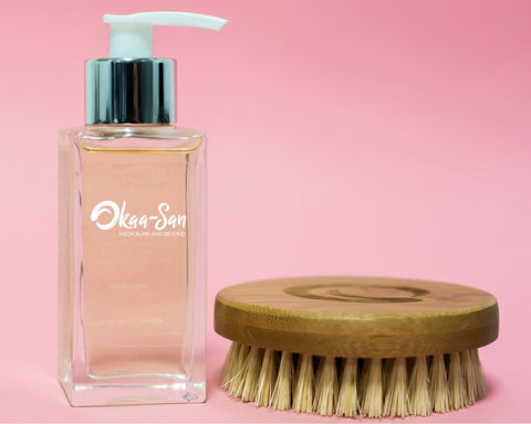 100% 100ml Natural Stretch Mark Oil and Bamboo Brush