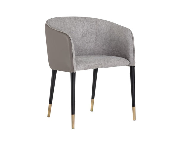 Ash Dining Armchair - Grey/Taupe