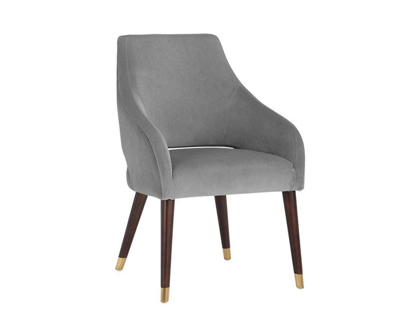 Adela Dining Armchair - Grey