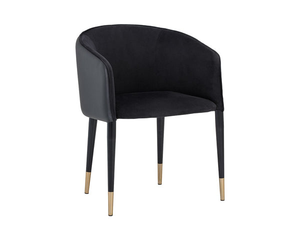 Ash Dining Armchair - Black