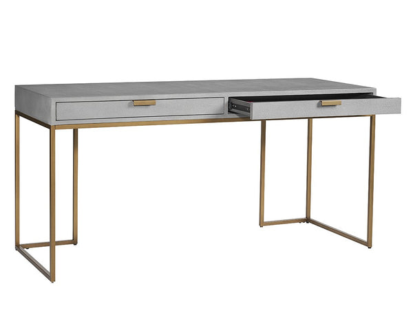 Shangrila Desk - Grey Shagreen