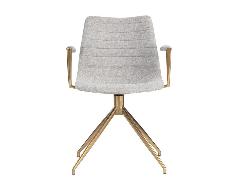 Andre Swivel Armchair - Heather Grey