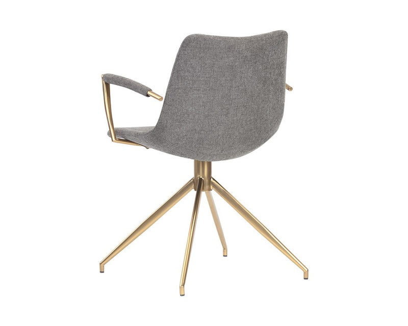 Andre Swivel Armchair - Grey