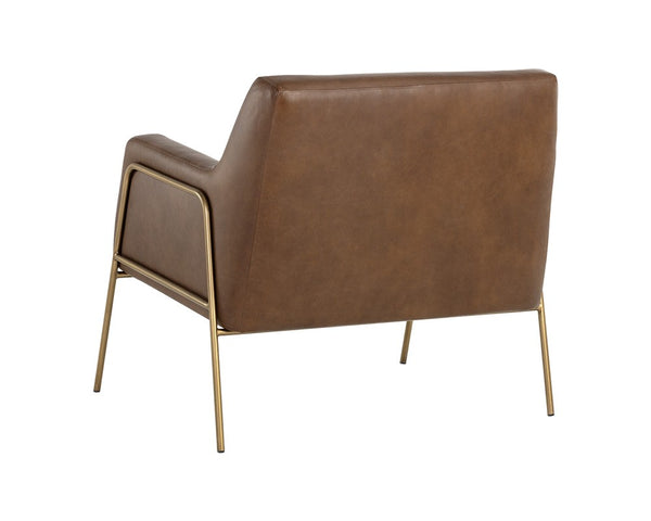 Lauren Lounge Chair - Vintage Caramel