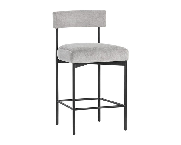 Cortel Counter Stool - Black & Stone