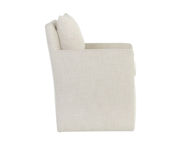 Upcountry Wheeled Dining Armchair - Linen