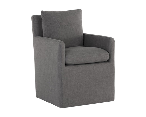 Upcountry Wheeled Dining Armchair - Smoke