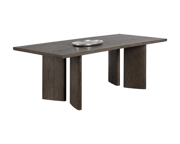 Julia Dining Table - Rectangular - Dark Brown - 90.5""
