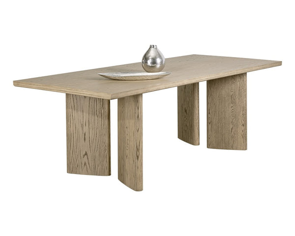 Julia Dining Table - Rectangular - Weathered Oak - 90.5""