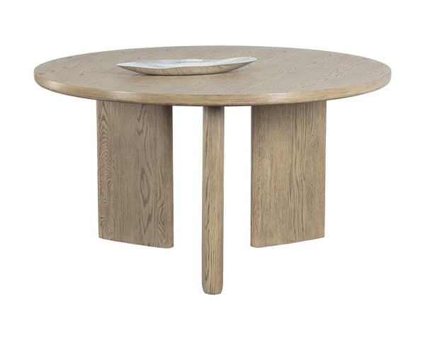 Julia Dining Table - Round - Weathered Oak - 55""