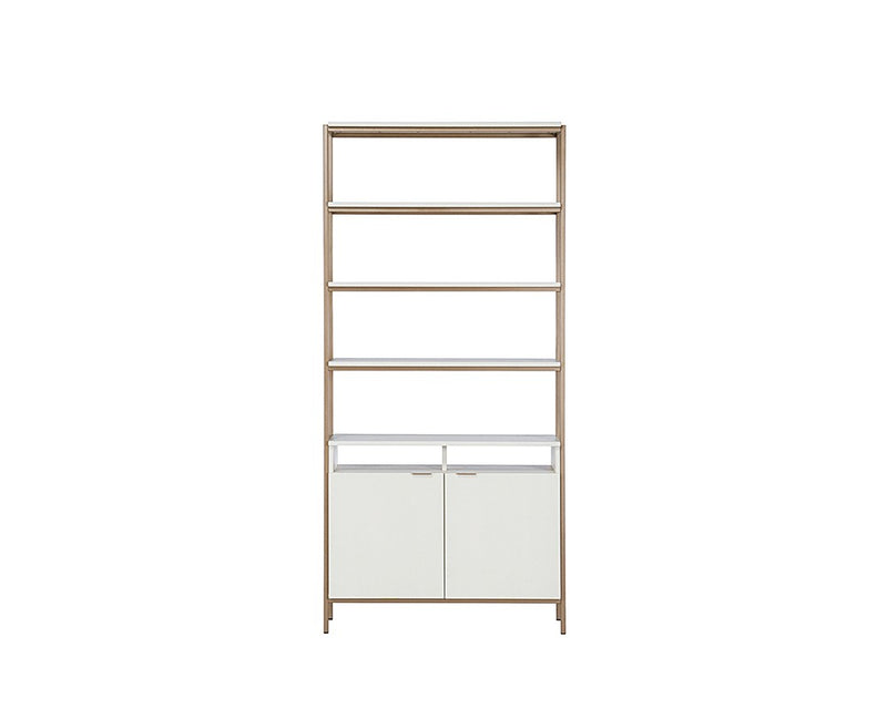 Rose Modular Bookcase - Large - Champagne Gold - Cream