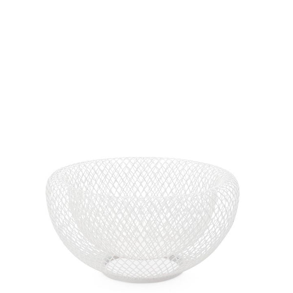 "Mesh Double Wall 7.5"" Diameter White Bowl"