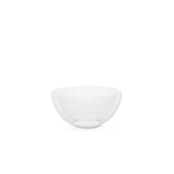 "Mesh Double Wall 9.5"" Diameter White Bowl"