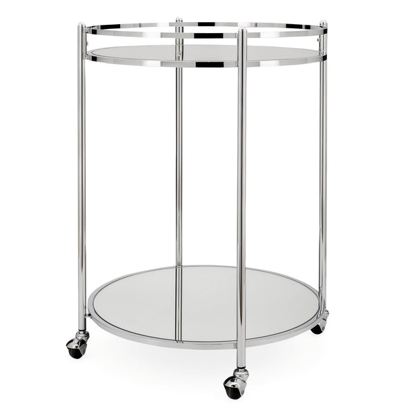 Manhattan 2 Tier Mirror Glass Serving Trolley