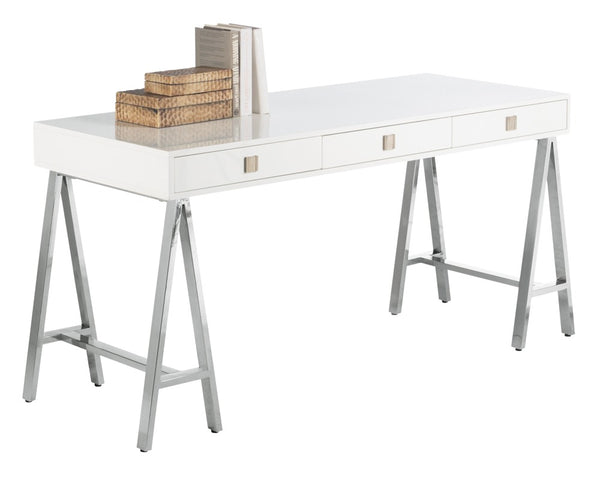 Eiffel Desk - High Gloss White