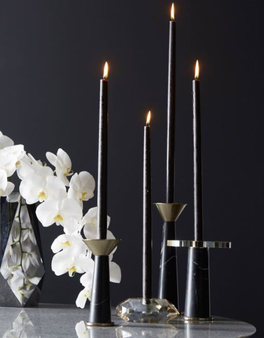 Tenbrooke Candleholder Set of 2 - Black