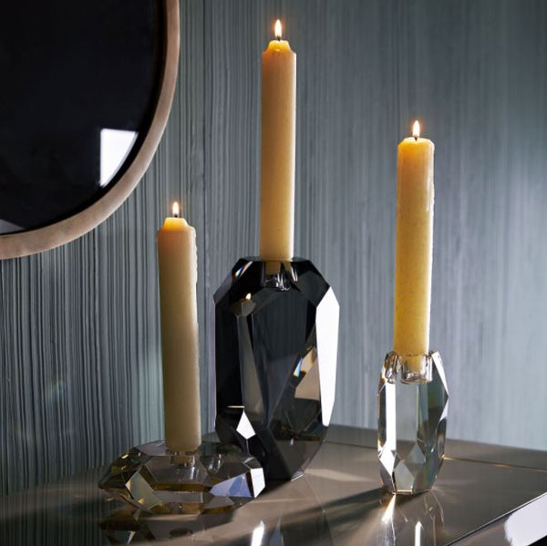 Violet Candle Holders Set of 3 - Champagne