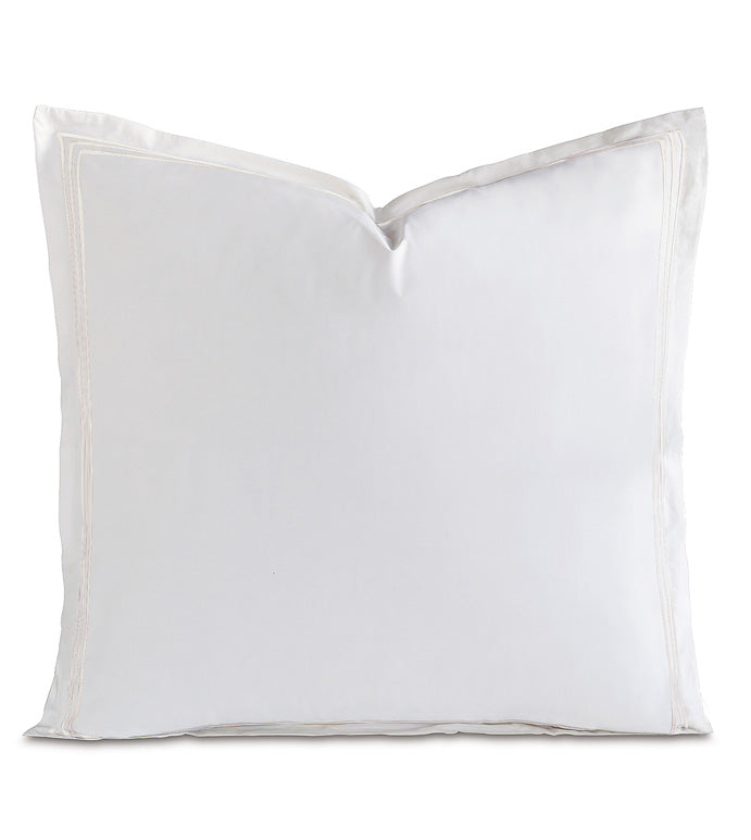 Tessa White on White Euro Sham