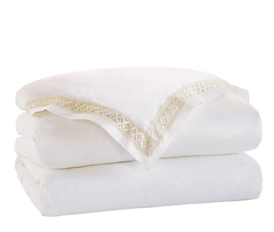 Juliet White & Ivory Duvet Cover