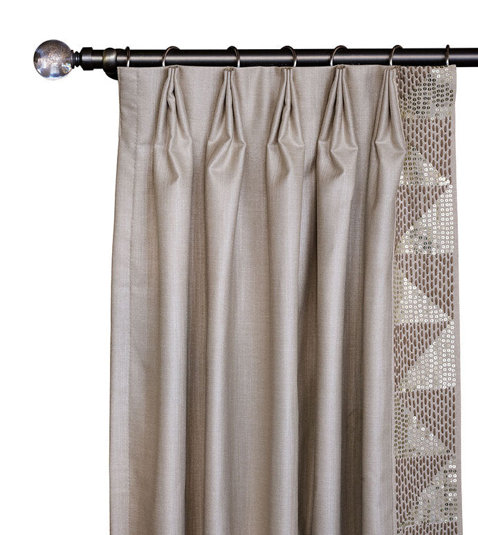 Teryn Sequined Curtain Panel Left