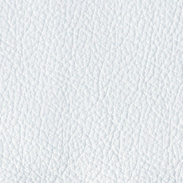 White leather. An attractive corrected grain leather, with a plain pigmented finish that offers ideal light fastness, stain protection and a soft feel.   Excellent durability with minimal maintenance. This top coated leather is very durable and will provide excellent wear characteristics for high traffic areas, if maintained properly.