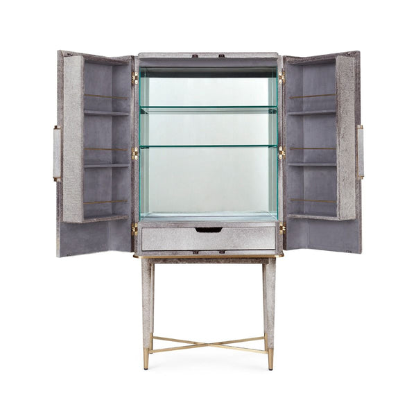 FLORIAN TALL BAR CABINET - GRAY