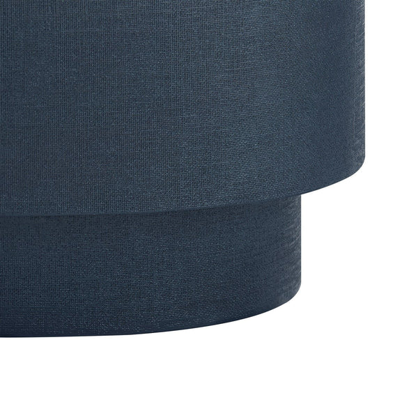 MILA OVAL COFFEE TABLE -NAVY BLUE