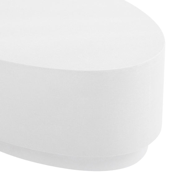 MILA OVAL COFFEE TABLE - WHITE