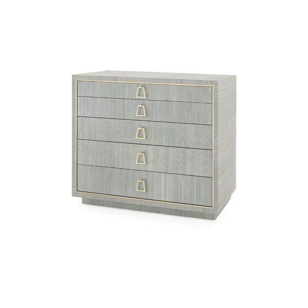 PARKER 5-DRAWER CHEST - SLATE BLUE