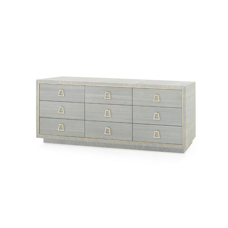 Parker 9-Drawer Dresser - Slate Blue