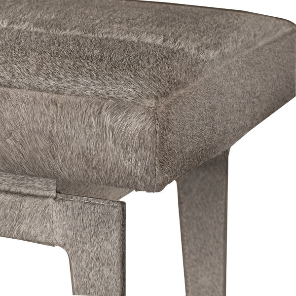 WINSTON BENCH - GRAY HAIR-ON-HIDE