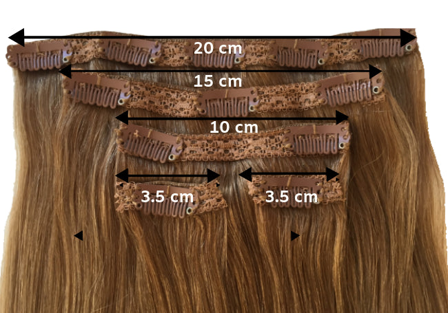20 Inch Clip In Hair Extensions – Remy Hair Extensions – 5 Piece 130 Gram Set