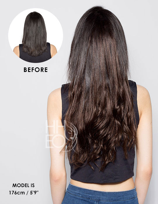 16 INCH Clip In Hair Extensions - 5 piece 110 gram set