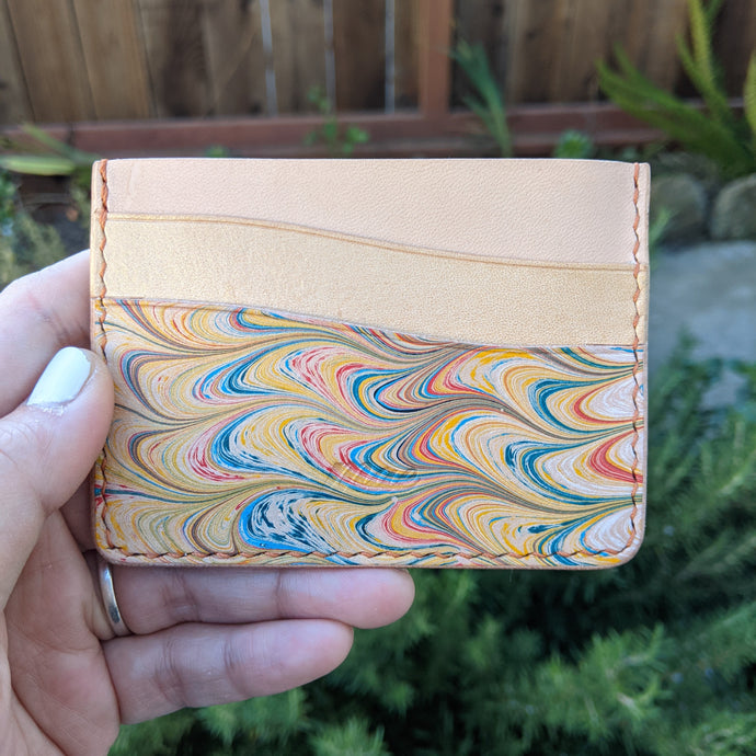 Metallic Marble Dyed Card Case